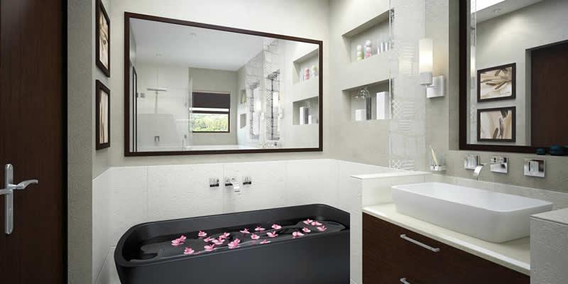 Como mejorar el baño: Espejos y tonos claros