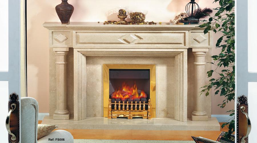 Chimeneas granito y marmol modelos cl sicos for Modelos de marmol y granito