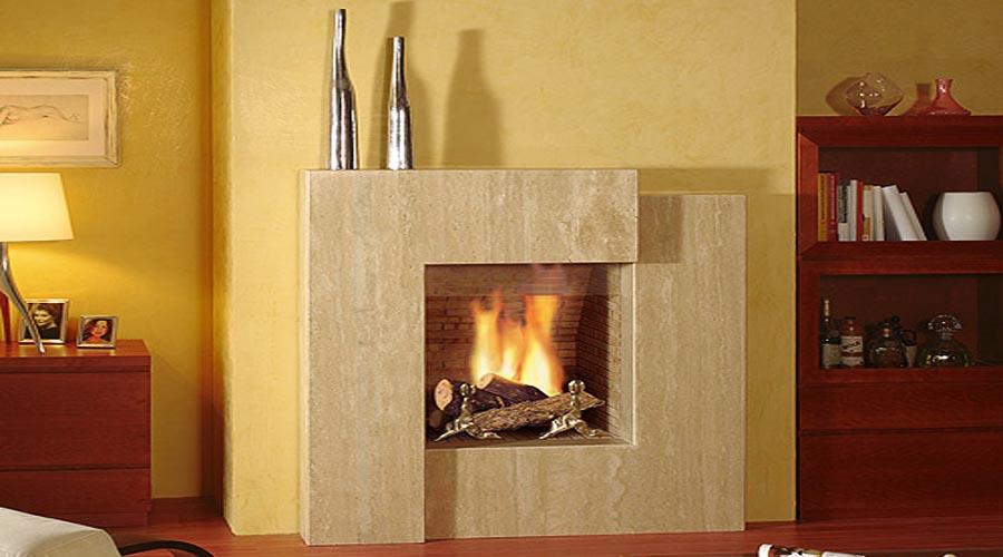 Chimeneas granito y marmol modelos modernos vanguardista - Marco de chimenea ...