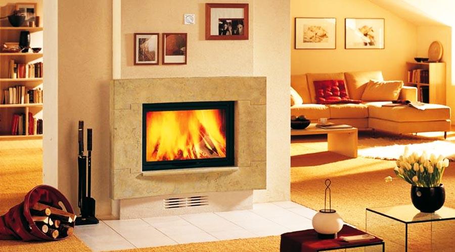 Chimeneas granito y marmol modelos modernos vanguardista - Chimeneas de pared modernas ...