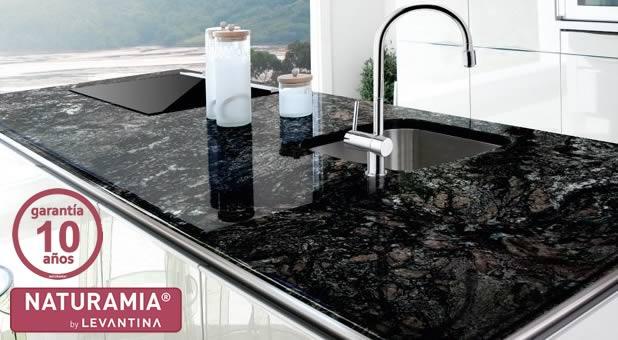 Encimeras de cocina granito alicante for Marmol negro precio
