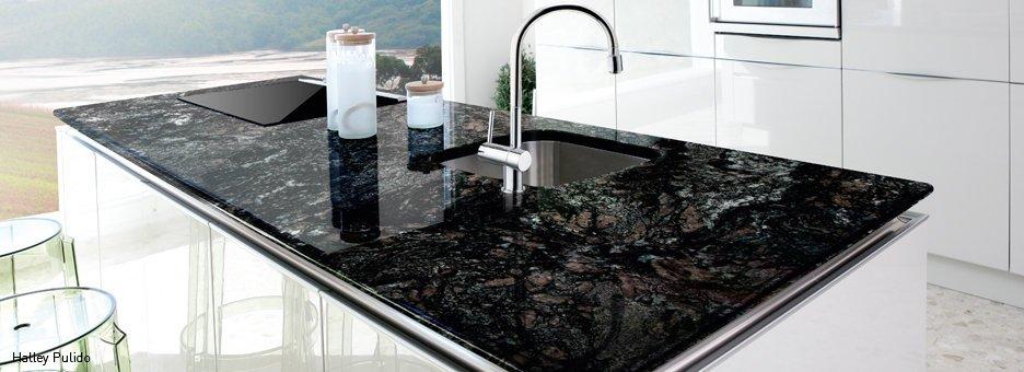 Galer a fotogr fica de encimeras de granito 1 for Clases de marmol para cocinas